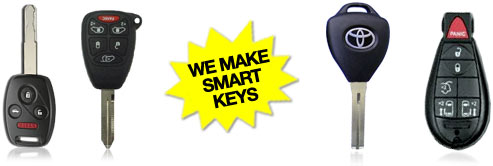 Smart keys for cars made