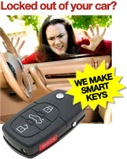 Locked out of your car? We make smart keys.